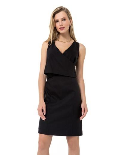 Accouchée Kolay Emzirme Özellikli Şık Elbise Siyah